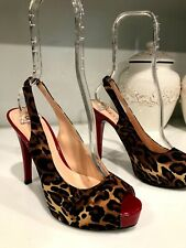 Guess Heels Women's Shoes Size 8 M Authentic Fashion Dress Shoes Animal Print