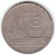Thailandia 1 BAHT 2007 moneta di rame-nichel-Phra kaew Temple. BANGKOK-RAMA IX