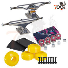 Independent 144 Skateboard Trucks Combo Abec 7 Bearing 52mm Yellow Wheels
