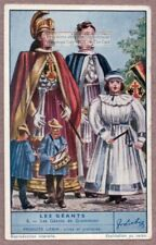 Giants In Belgian Parades And Festivals Grammont Belgium 75+ Y/O Trade Ad Card