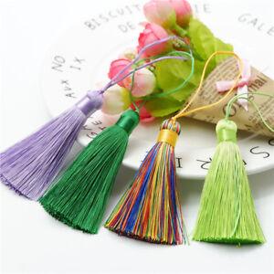 28 Colors 3'' Ice Silk Tassel Trim Key Chian Pendant Jewelry Making DIY