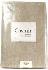 "1 Ct Benson Mills Casmir Champagne 60"" X 120"" Oblong Tablecloth Machine Washable"