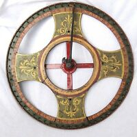 Antique Iron Painted Carnival Game Wheel Of Chance