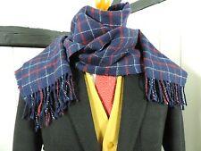 Hombre 100% Bufanda de Lana de Cordero Exquisito Diseño a Cuadros