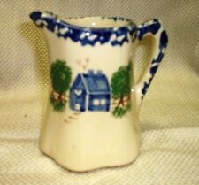 "Pottery Hand Painted Pitcher 4"" Tall (New)"