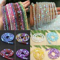 DIY Mystic Aura Quartz Gemstone Loose Beads Holographic Quartz Matte Bracelets