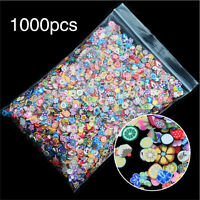 1000PCS 3D Fruit Animals Fimo Slice Clay DIY Nail Art Tip Sticker Decorati NTPD