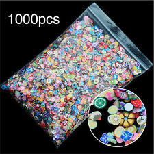 1000X Fruit Animals Flower Fimo Slice Clay Nail Art Sticker