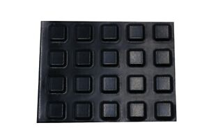 20 x SMALL Black Square Adhesive Rubber Feet UK STOCK FREE POSTAGE