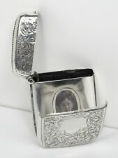Vesta case hidden photo frame exceptional very beautiful sterling silver - 1903
