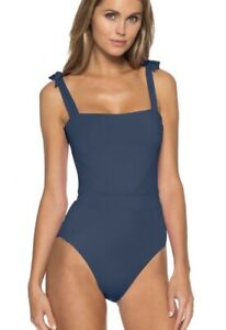 BECCA Womens COLOR CODE EMMA ONE-PIECE Size Small P Over The Shoulder Tie Blue