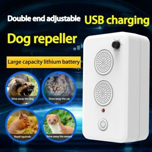 Ultrasonic Dogs Stop Barking Anti Bark Device Training Repeller USB Rechargeable