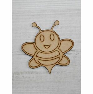 WOODEN MDF SHAPES BUMBLE BEE SCRAPBOOK CRAFT EMBELLISHMENTS KIDS GIFT CARDS
