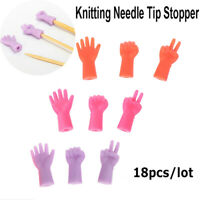 18pcs Rubber Mix Shaped Knitting Needles Point Protectors Cap For Need%PJ uW