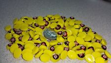 Vintage Millefiori Lampwork Glass Cabochon 8mmx6mm Oval - Yellow Flower 04469