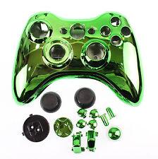 Custom Chrome Green Xbox 360 Controller Shell Enclosure Chrome Effect