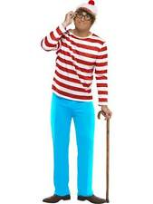 """WHERE'S WALLY? COSTUME, LICENSED FANCY DRESS, CHEST 38""""-40"""", MENS, COMIC #AU"""