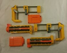 Nerf Gun Accessories 2 Barrel Extensions 2 Butt Stocks & 2-6 Round Magazines