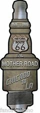 """Route 66 The Mother Road Novelty Metal Spark Plug Sign 6"""" x 17"""" Wall Decor"""