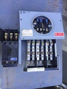 GE General Electric IEMCME731EP Jaw Meter Socket B-8911 w/ 3 POLE GE BREAKER