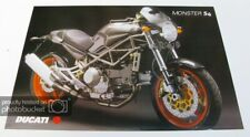 DUCATI MONSTER S4 MOTORCYCLE Sales Specification Leaflet 2001
