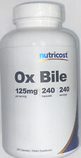 Nutricost Ox Bile 125 mg Dietary Supplement - 240 Capsules