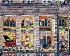 Wine Coffee Cafe Original Art Painting Dan Byl Modern Contemporary Huge 4x5ft