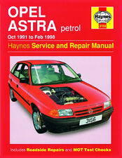 3156 Haynes Opel Astra benzina (Ott 1991-FEBBRAIO 1998) Manuale Officina