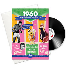 58th BIRTHDAY or ANNIVERSARY GIFT -1960 4-In-1 CD Card - Story of Your Year