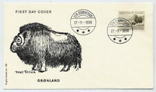 GREENLAND 1969 25 Kr Musk Ox definitive on FDC.