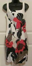 MUSE RED BLACK WHITE FLOWER SLEEVELESS DRESS SIZE 2 NWT $164