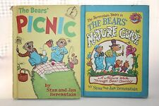 Lot of 2 Berenstain Bear Books Picnic The Nature Guide By Stan and Jan