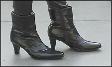 BOSTON BELLE WOMEN'S HIGH HEELS ANKLE HIGH FASHION BOOTS SIZE 8.5 AUST 40 W EUR