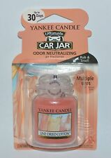NEW YANKEE CANDLE LINE DRIED COTTON ULTIMATE CAR JAR AIR FRESHENER HANGING CUTE