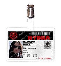 Captain America Hydra Bucky Barnes Winter Soldier ID Badge Cosplay Comic Con