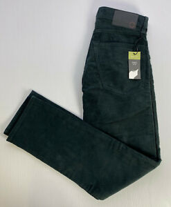"M&S Mens DARK TEAL Cords Slim Fit STRETCH Corduroy Trousers W28"" L29"" Short R£29"