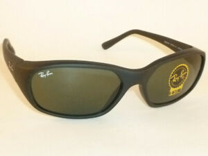 New Ray Ban  Daddy-O  Sunglasses  Matte Black  RB 2016 W2578  G-15 Green Lenses