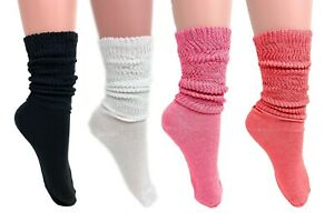 Extra Thin Lightweight Slouch Socks for Women 4 PAIRS Size 9-11