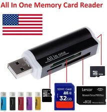 High Speed All in1 USB Memory Card Reader Adapter For Micro SD MMC SDHC TF M2 US