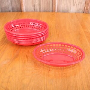 8 Tablecraft Product Red Food Fry Baskets