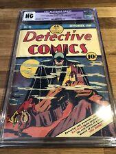 Detective Comics 31 (Restored) 1939. 5th Appearance Of Batman After Detective 27