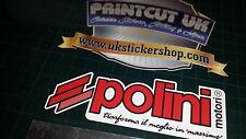 2x Polini custom red  Decals Stickers, Gilera, Vespa, Italjet, Sym, Speedfight,
