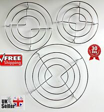 3X Chrome Hot Plate Pan Pot Stand Kitchen Worktop Protector Round Trivet Coaster