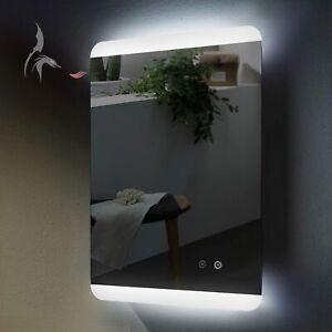 Badspiegel LED beleuchtet mit ANTIBESCHLAG SPIEGELHEIZUNG Hoch- und Quer Montage