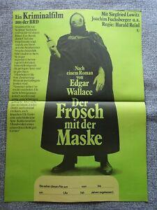 Edgar Wallace - Der Frosch mit der eisernen Maske Filmposter Filmplakat A2