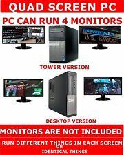 DELL i5 QUAD CORE COMPUTER PC 480GB SSD 4 MONITORS QUAD SCREEN STOCK TRADING