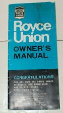 VINTAGE ROYCE UNION HIGH RISER BICYCLE OWNERS MANUAL (1966 ?)
