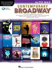 Contemporary Broadway Instrumental Play-Along Alto Sax Book and Audio 000298706