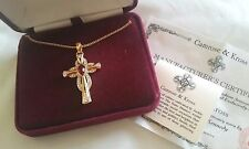 JBK Jacqueline Kennedy Camrose Kross Ruby Crystal Celtic Cross Necklace  NEW