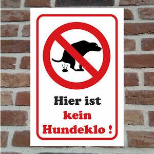 Kein Hundeklo Hundetoilette Hunde Schild Hinweis Verbot Hartschaumplatte Dog Kot